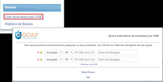 , Novidades GOJUR – Cadastro de Processos por OAB