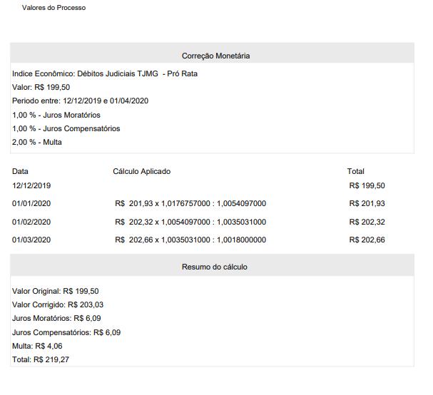 , Novidade no GOJUR – Relatório de cálculo monetário do processo