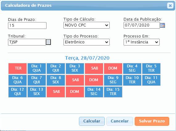 , Novidade no Software Jurídico GOJUR – Calculadora de Prazos